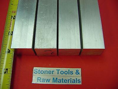 4 Pieces 1 X 1 Aluminum 6061 Square Bar 4 Long New T6 Flat Mill Stock 1.00