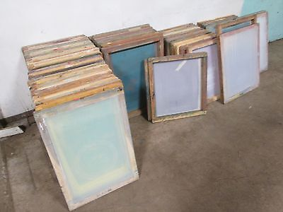 Lot Of 58 Heavy Duty Commercial Assorted Silk Screen Printing Frame Wmesh