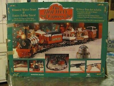The Holiday Express Christmas Lighted/Musical/Animated Train Set - Tested,#0181W