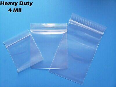 Clear Reclosable Zip Top 4mil Bags Heavy Duty Plastic 4 Mil Lock Seal Baggies