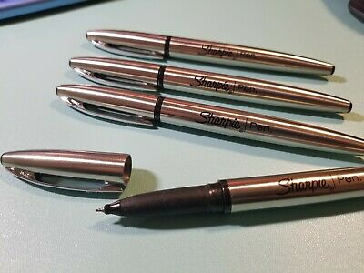 1 One Sharpie Stainless Steel Pen - Fine Point 0.8mm Black Ink Pen