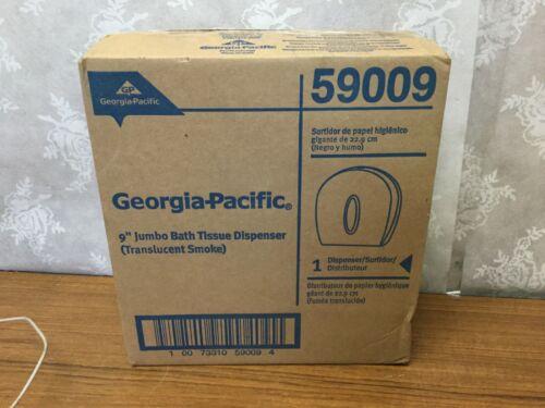 "Georgia Pacific 9"" Jumbo Bath Tissue Dispenser Translucent Smoke 59009 NIB NEW"