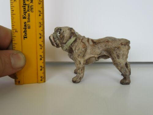Antique Early 20th Century English Bulldog Germany Painted Metal Figurine Toy