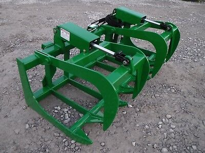 John Deere Tractor Loader 66 Dual Cylinder Root Grapple Bucket - 99 Ship