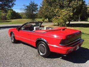 1990 Chrysler Le Baron Convertible..