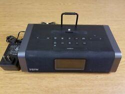 iHome iDL45 Dual Alarm Audio Sync Clock Lightning Dock Working W/ Adapter