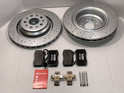 Maserati Ghibli SQ4 Quattroporte GTS AWD Rear Rotors and Brembo Brake Pads Set