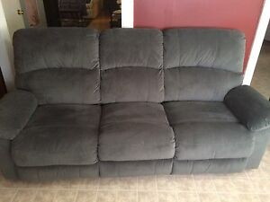 Grey reclining couch