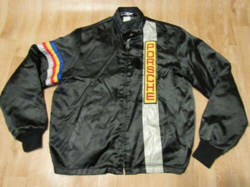 Vintage 1980s Mitcom Porsche Jacket Mens Large racing coat