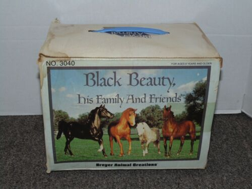 Vintage Classic Breyer Horse #3040 Black Beauty his Family And Friends