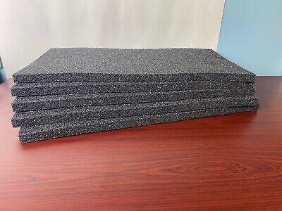 5 Sheets - 21 X 11 X 34 Black Polyethylene Plank Foam 1.7pcf Pe