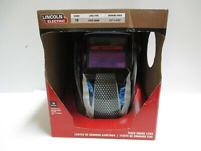 New Lincoln Electric Basic Welding Helmet With No. 10 Lens 4-12 In. X 5-14 In