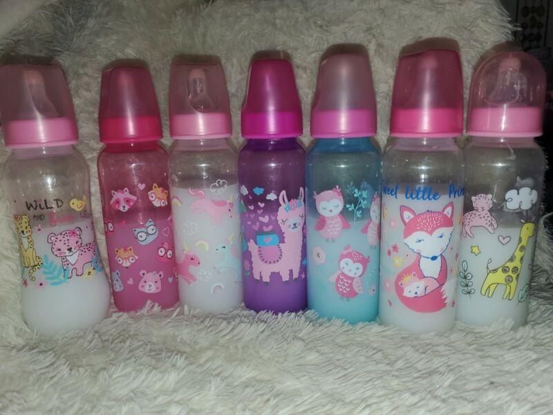 Sealed Milk Bottles For Reborn Baby (1 Bottle) Girls