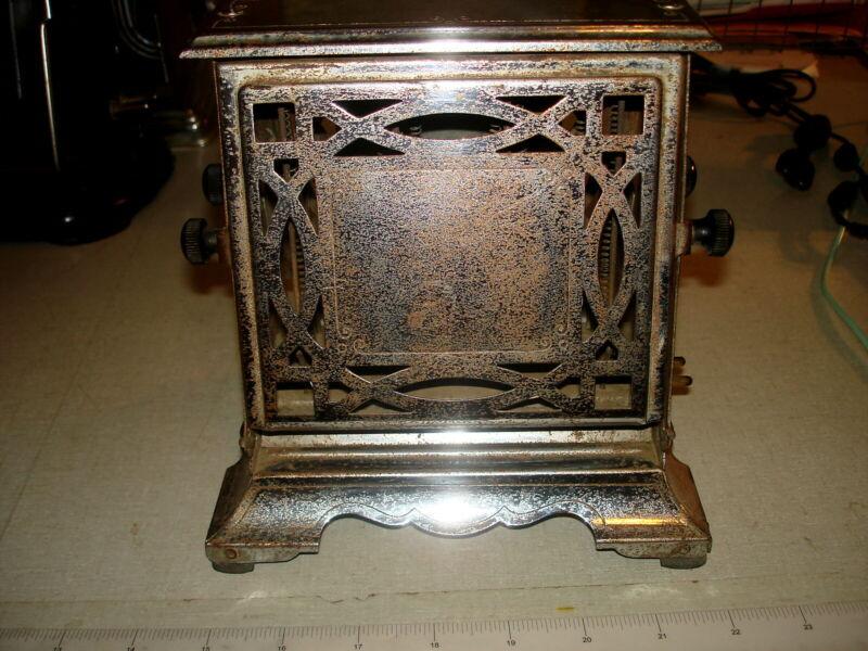 Antique Vintage ELECTRIC TOASTER - HOMELECTIC Manning Bowman Flip Sides