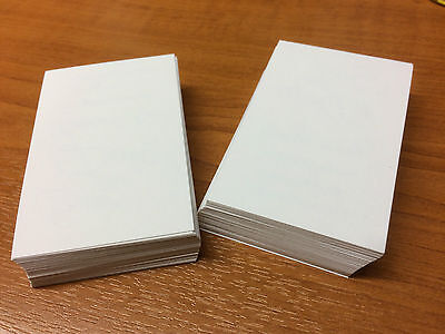 100 White Blank Business Cards 250gsm, Stamp, Print, ATC. White Smooth Card