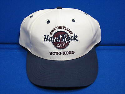 Hard Rock Cafe Hong Kong Snapback Ball Cap Save The Planet Love All Serve Unused