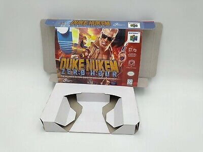 Duke Nukem Zero Hour - reproduction box with insert - N64 - Pal or NTSC. HQ !