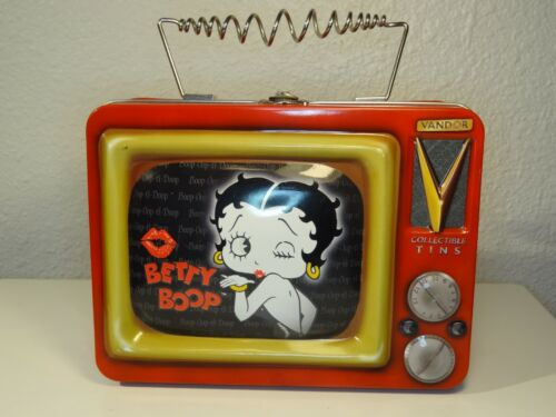 BETTY BOOP!  VANDOR COLLECTIBLE TINS FEATURING BETTY BOOP ON TV LUNCH BOX