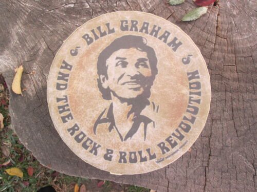 BILL GRAHAM & The Rock Revolution Vintage REMO Promo Tambourine