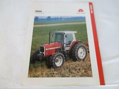 Massey Ferguson Model Mf 3660 Tractor 140 Pto Hp Brochure