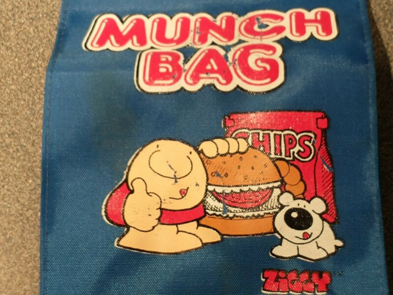 ZIGGY FUZZ COMIC STRIP MUNCH / lunch BAG Thumbs Up Universal Press Syndicate