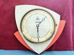 RARE 1950s Mid Century Modern DAM (France) Electric Wall Clock With New Movement