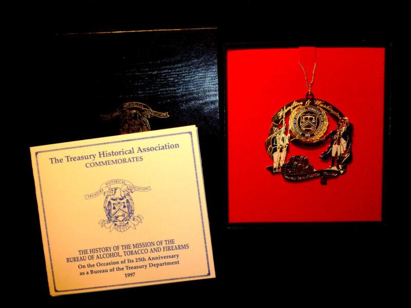 U.S. Treasury Department 1997 Alcohol, Tobacco & Firearms, ATF Ornament