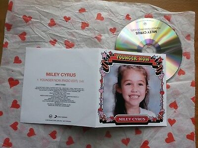 Miley Cyrus   Younger Now  Uk Promo Cd Single   Cute Pic Cover