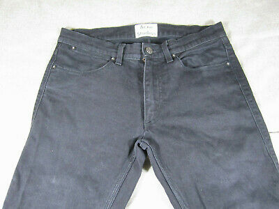 Men's Acne Studios Black Max Cash Slim Fit Jeans Size 31/32