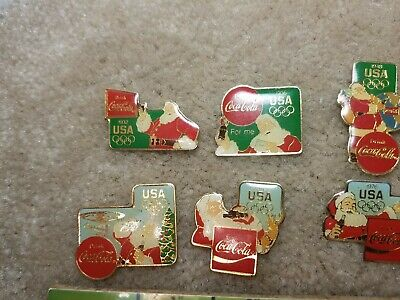 LOT OF 10 COKE COCA COLA OLYMPIC PINS, USED