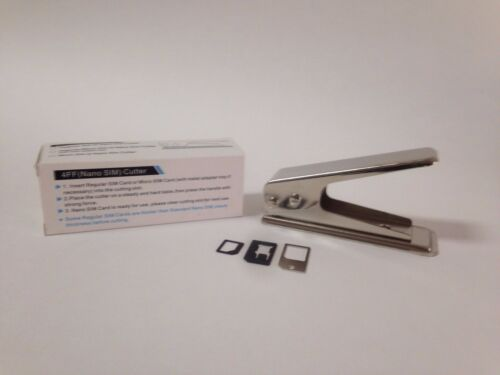 NEW SIM CUTTER STANDARD AND MICRO TO NANO PLUS 3 ADAPTERS UNIVERSAL