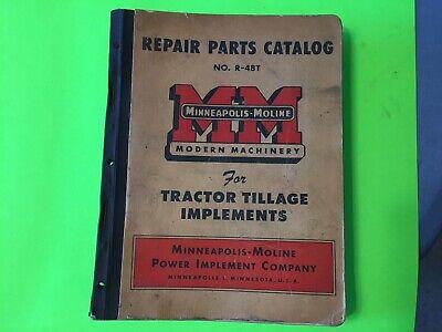 Minneapolis-moline Implement Parts Catalogue. Item  10796