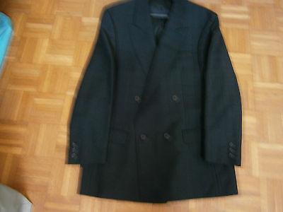 Veste de costume noire boutonnage croise taille 50 marque ted lapidus
