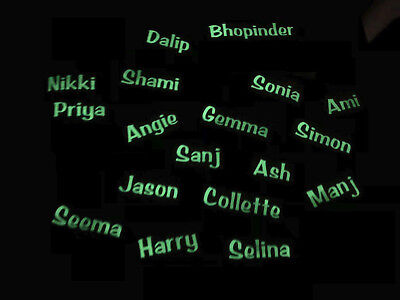 X4 Glow in the dark names for party cups / glasses ( kids & Adults - Glow In The Dark Cups