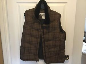 Columbia Down women's vest large
