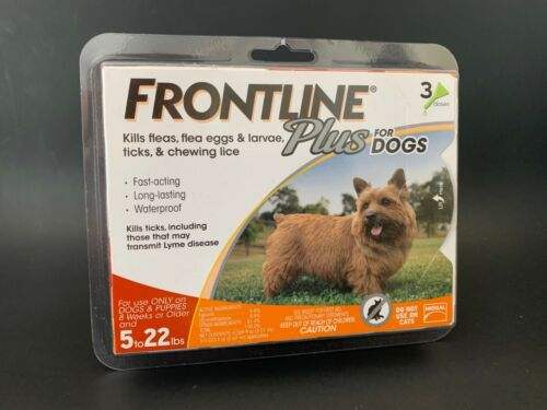 Frontline Plus for Small Dogs 5-22 lbs. 3 Doses, Brand New, #S007