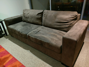 Two sofas and TV table $150 Kelvin Grove Brisbane North West Preview