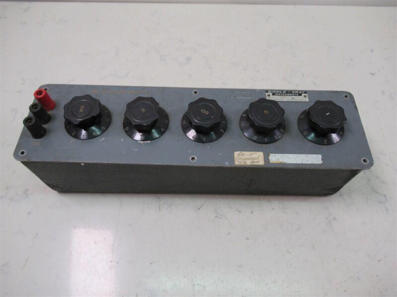 Vintage James Biddle Gray Instruments Decade Resistor Box 601144-3 Laboratory