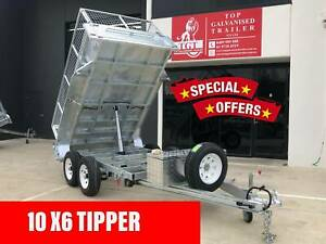 10x6 Tipper Trailer Hydraulic Galvanised Tandem 3.5t ATM 600 Cage Epping Whittlesea Area Preview