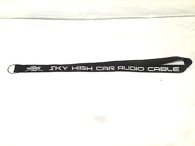 Sky High Car Audio LANYARD Black with White Logo and Writing Polyester
