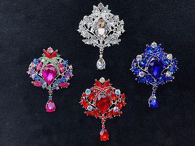 Large rhinestone Brooches. Bridal bouquet wedding flower crystal wholesale Pin