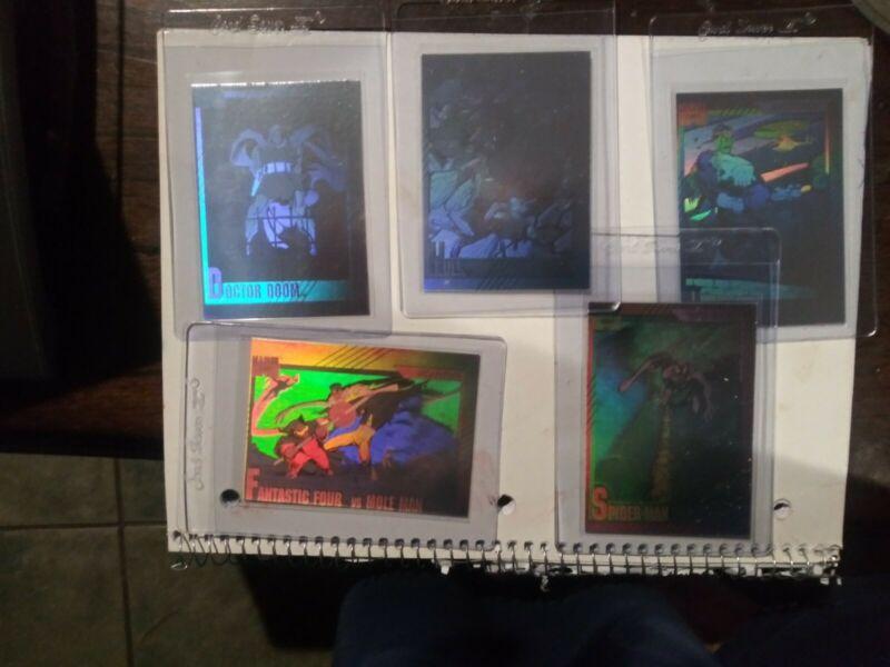 1991 Marvel Universe  Impel Set of 5 Hologram Chase Cards H1-H5 INSERT SET