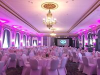 Fitted White Chair Covers for Rent