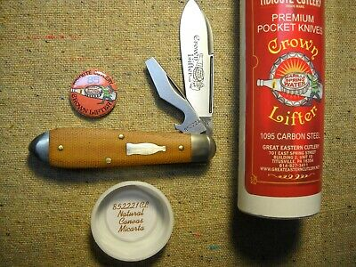 Great Eastern Cutlery Tidioute #85 Cap Lifter Knife Natural Canvas Micarta