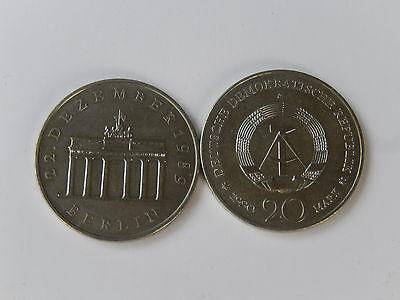 20 Mark DDR 1990 Brandenburger Tor  St