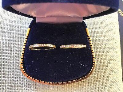 Hidalgo Designer 18K Yellow Gold Diamond Ring Diamond Band Set of Two Size 6.25