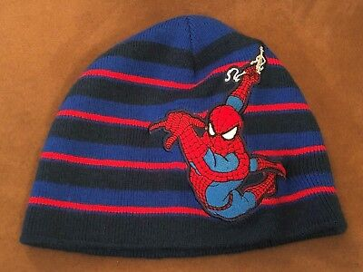 (Marvel Spiderman Kids Red Blue Beanie Cap)