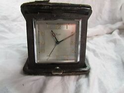GERMANY KIENZLE TRAVEL ALARM CLOCK folding wind up WORKS alarm vintage