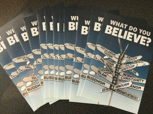 """Lot 12 New """"What Do You Believe?"""" Bookmarks Leaflets Tracts Bible Christian"""