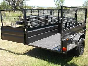Aust 7x4 H/D Camper Cage Trailer Toolbox 6 Leaf Leds Jockey Spare Hatton Vale Lockyer Valley Preview